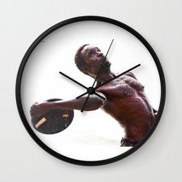 The disc launcher Wall Clock