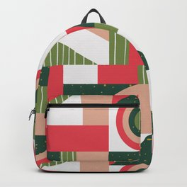Traditional Xmas Quilt Backpack