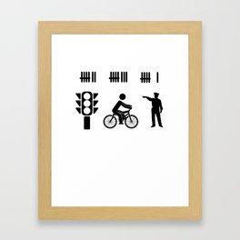 car driver racer highway police PS gift Framed Art Print