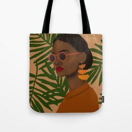 girl in shades Tote Bag