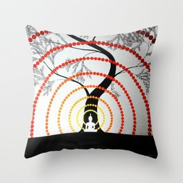 Waves of Peace Throw Pillow