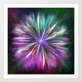 Colorful star  Art Print