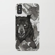 Bear, wolf, pike and falcon iPhone X Slim Case