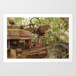 Abandoned Tractor Art Print