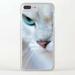 British shorthair silver shaded chinchilla cat Clear iPhone Case