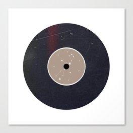 Vinyl Record Star Sign Art | Virgo Canvas Print
