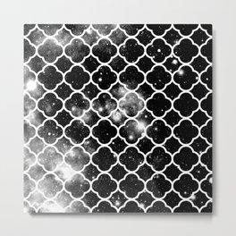 Infinite Choices Exist Beyond the Pattern black & white Metal Print