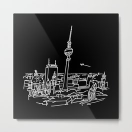 Panorama of Berlin with TV-tower Metal Print