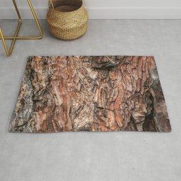 Pine tree bark texture Rug