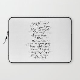 MAY THE ROAD rise to meet you Irish blessing sign Irish blessing print Irish wedding gift Laptop Sleeve