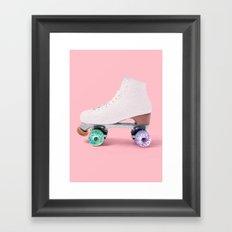 ROLLER DONUT Framed Art Print