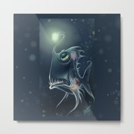 Self Hypnosis, Glass Fish Metal Print