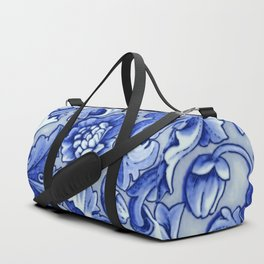 Blue and White Porcelain Duffle Bag