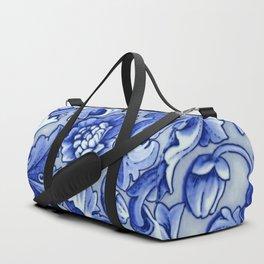 Blue and White Porcelain Duffle Bag