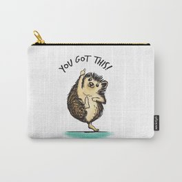 Motivational Hedgehog Carry-All Pouch