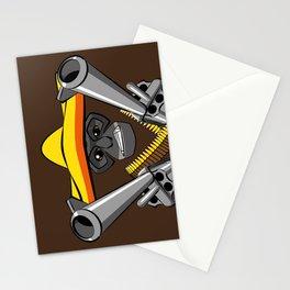 Gibbon Desperado with Guns Stationery Cards