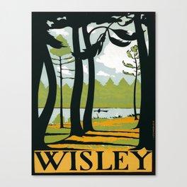 Vintage poster - Wisley Canvas Print