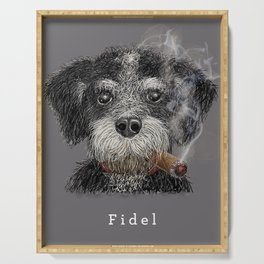 Fidel - The Havanese is the national dog of Cuba Serving Tray