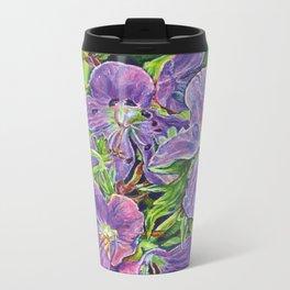 Six Wild Geraniums Metal Travel Mug
