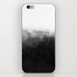 Black White Powder iPhone Skin