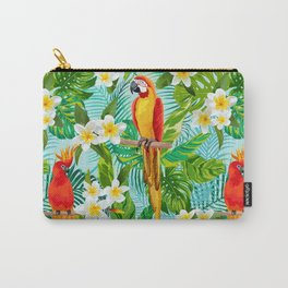 Tropical Parrot Chillin Carry-All Pouch