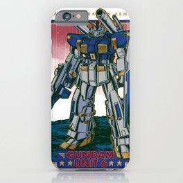 Gundam Unit 6 Retro iPhone Case