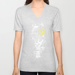 Tennis Ball Hits Abstract Decayed Gift Unisex V-Neck