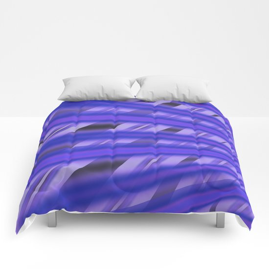 Fractal Play in Purplicious Comforters