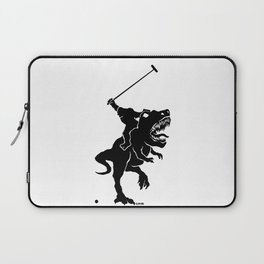 Big foot playing polo on a T-rex Laptop Sleeve