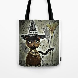 Sassy Witch Cat Tote Bag