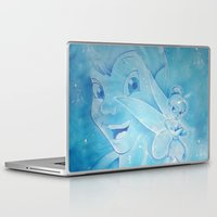 peter pan Laptop & iPad Skins featuring Peter Pan by JBdesign