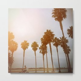 Palm Tree Road Metal Print