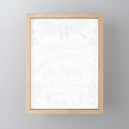 Ouija Board Black Framed Mini Art Print