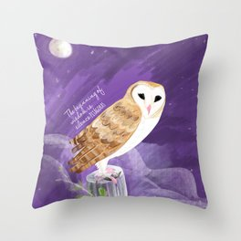 Totem barn owl bird of the year Throw Pillow