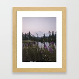 Wildflowers at Picture Lake Framed Art Print