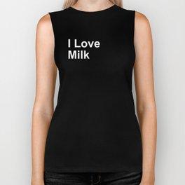 I Love Milk Biker Tank