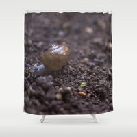 snail Shower Curtains featuring Snail by Heartland Photography By SJW