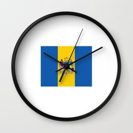 flag philadelphia,america,us,Philly,Pennsylvannia, Brotherly,Athens,Philadelphian,Penn,Pennsylvanian Wall Clock