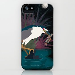 Arcata Marsh Black Crowned Night Heron iPhone Case