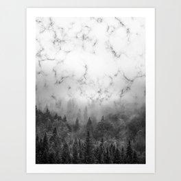 Marble Woods Art Print