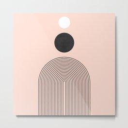 Abstraction_SUN_BLACK_WHITE_POP_ART_Minimalism_001A Metal Print