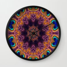 Peacock Fan Star Abstract Wall Clock