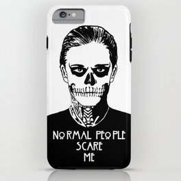 Normal People Scare Me - Tate iPhone Case