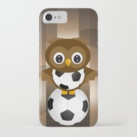 soccer iPhone & iPod Cases featuring Soccer Owl by Simone Gatterwe