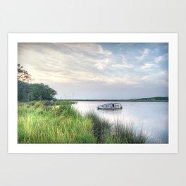 Outer Banks, Colington Harbour Sunset, OBX, NC Art Print