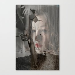 Lipstick and Lace Canvas Print