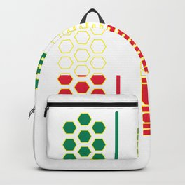 Accordion music Italy flag buttons gift Backpack