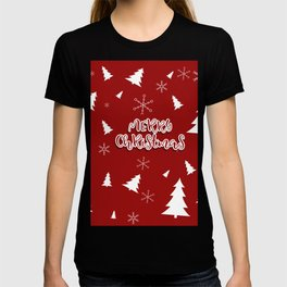 New Year, Christmas, winter holidays illustration T-shirt
