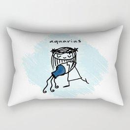 rebel, rebel (aka: aquarius) Rectangular Pillow