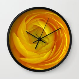 Yellow flower 192 Wall Clock